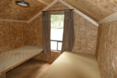 Cabin #3, wood cots with foam pad
